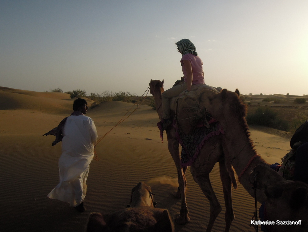 Camel safari in Jaisalmer, India