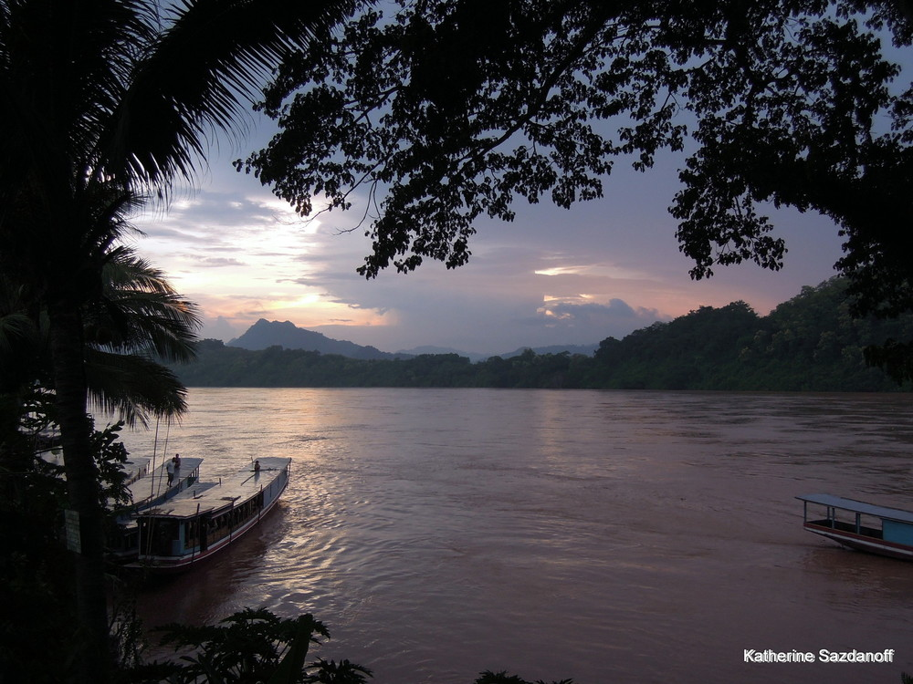 Mekong River in Luang Prabang, Laos