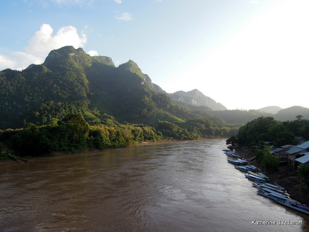 Nam Ou River in Nong Kiau, Laos