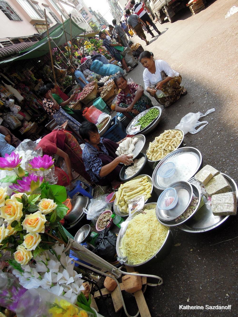 Market in Yangon, Myanmar