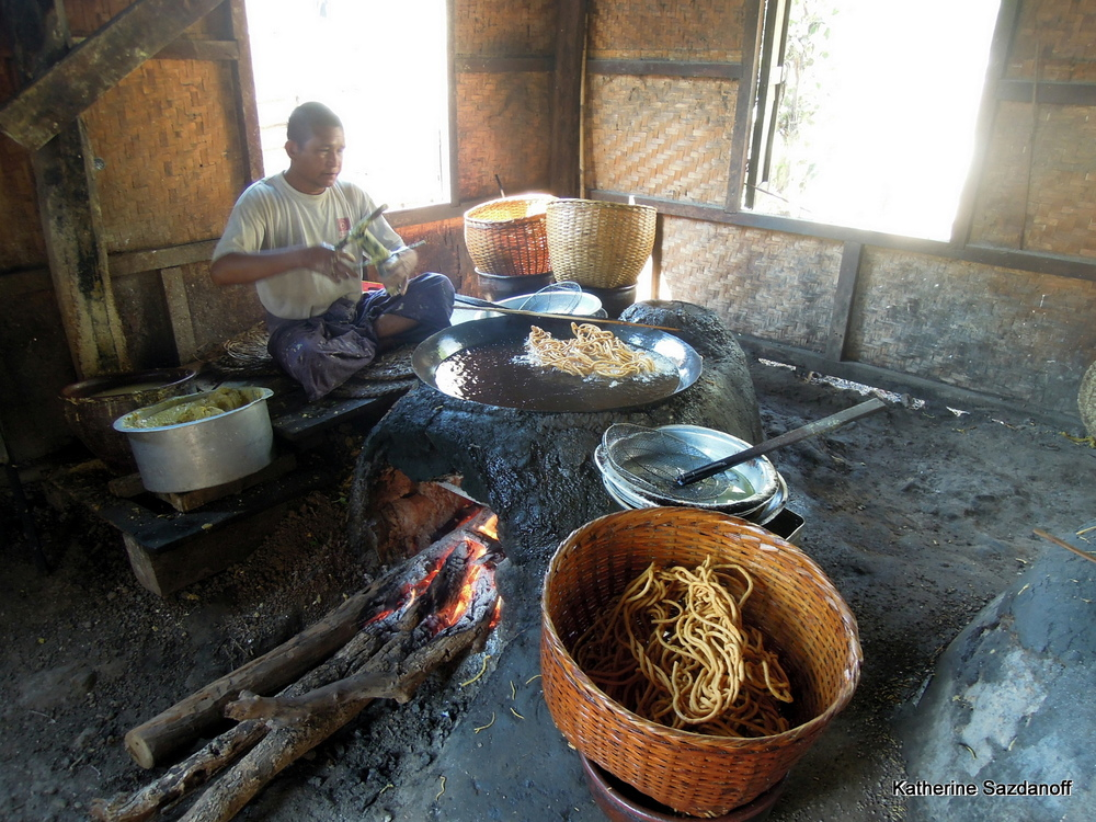 Local culinary tradition in Inle Lake, Myanmar