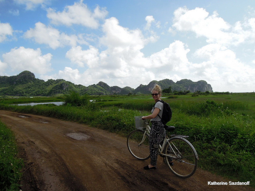 Cycling in Cat Ba Island, Vietnam