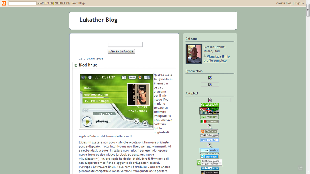 Lukather blog nel 2006