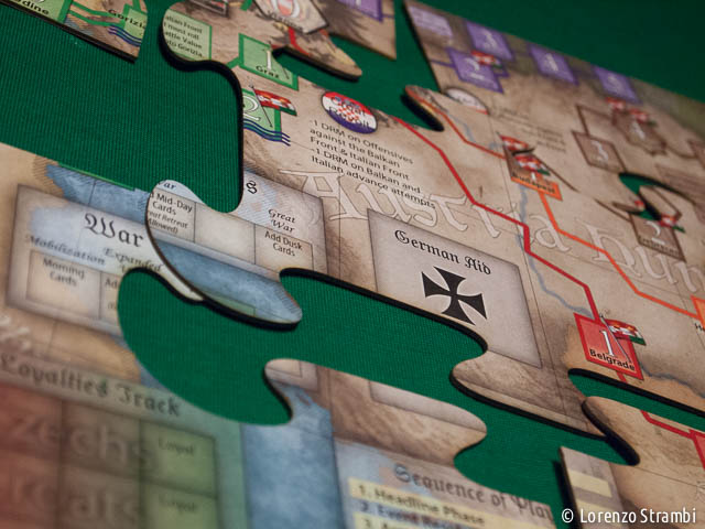 La mappa mounted a 'puzzle'