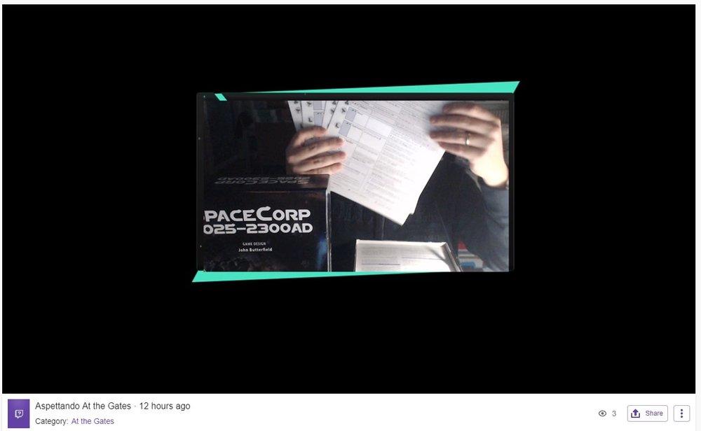 …mentre faccio unboxing di SpaceCorp della GMT…