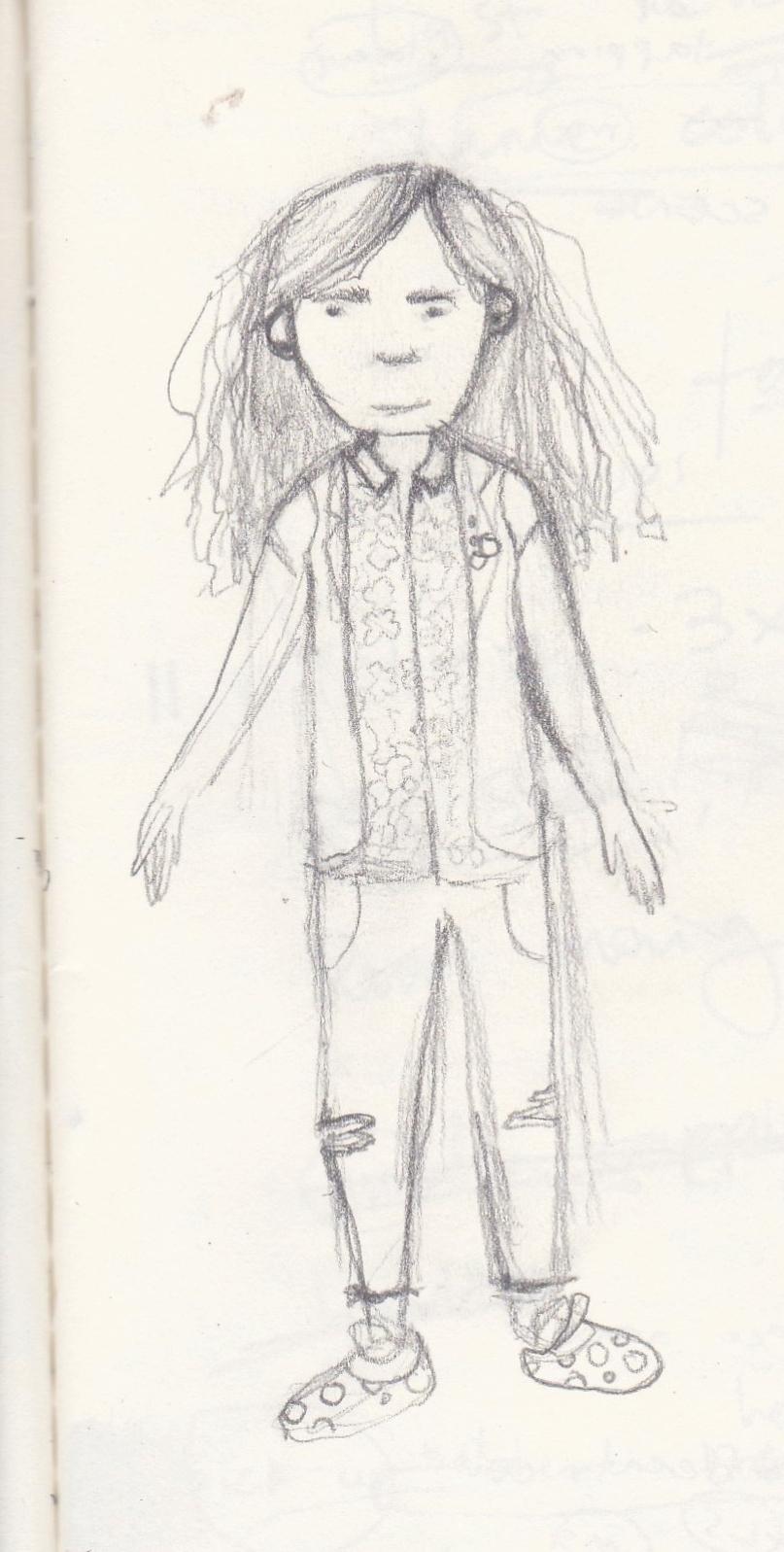 Main Character Initial Sketch