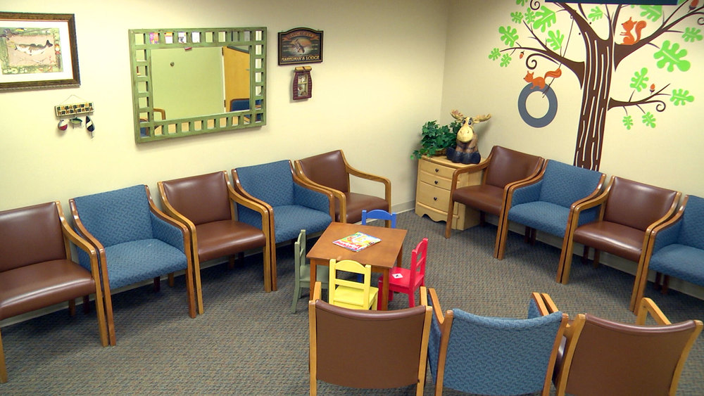 Our friendly and fun lobby features a general waiting area, and specific well-child area to make sure your kids are always as healthy as possible!
