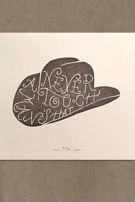 Never Touch A Man s Hat — Lilco Studio da456f03a48
