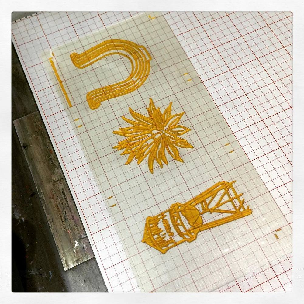 Photopolymer plate on press
