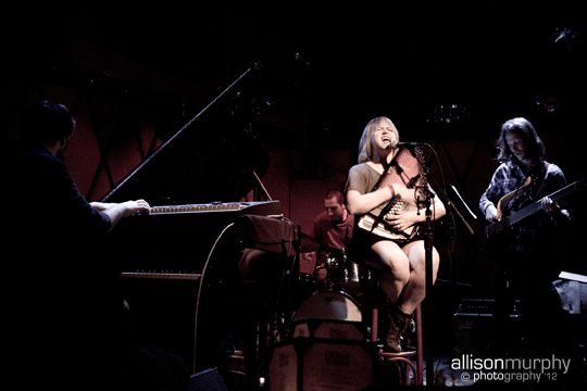 At Rockwood Music Hall with Nick Jost, Jeremy Viner and Danny Sher. Photo credit: Allison Murphy