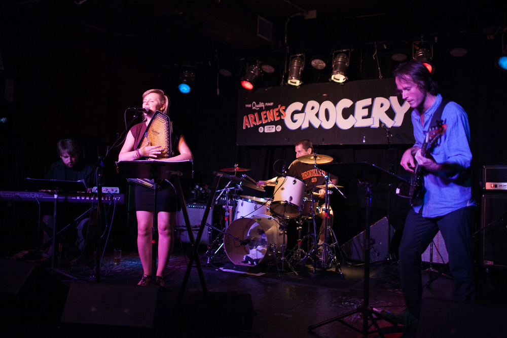 With Jeremy Viner, Danny Sher and Nick Jost at Arlenes Grocery.  Photo credit: charlie-juliet photography
