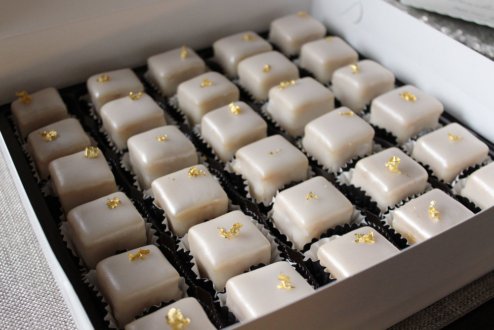 Petit Fours with gold leaf