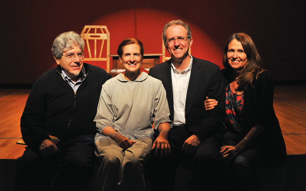 L to R: Leslie Steinweiss (Composer/Lyricist), Kate Fuglei (Performer), Ken Lazebnik (Playwright) and Ellen S. Pressman (Director).