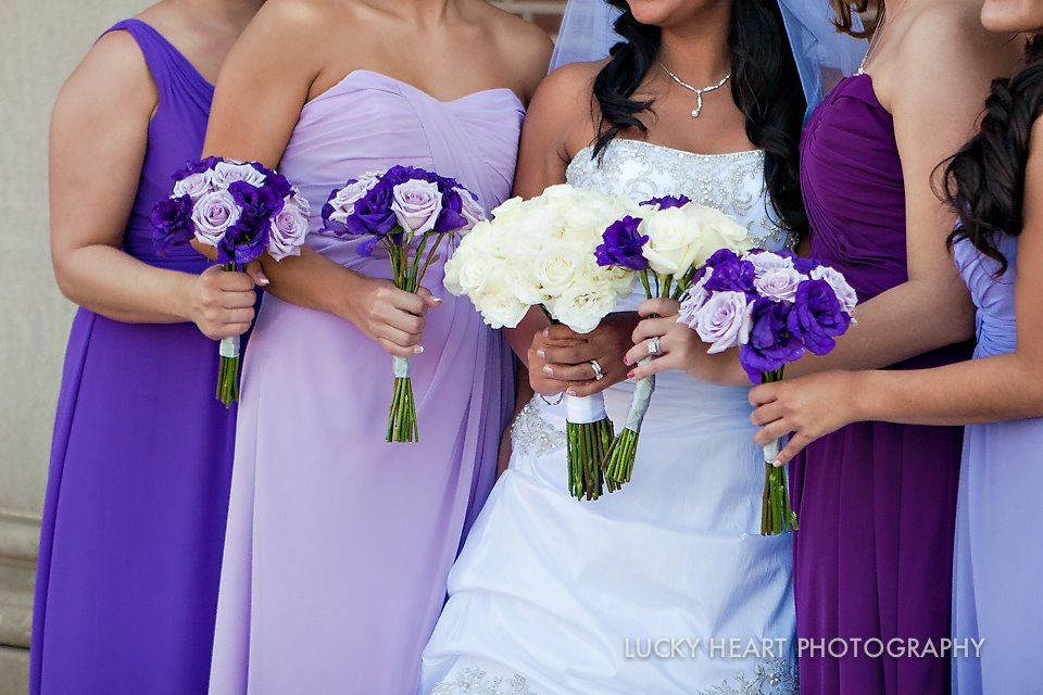 Ombre bridesmaids dresses // Lucky Heart Photography