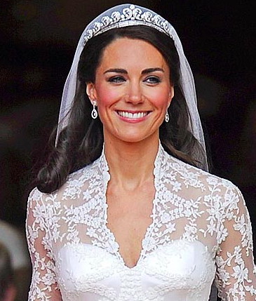 The Duchess of Cambridge's gown was classic meets modern.  // People.com