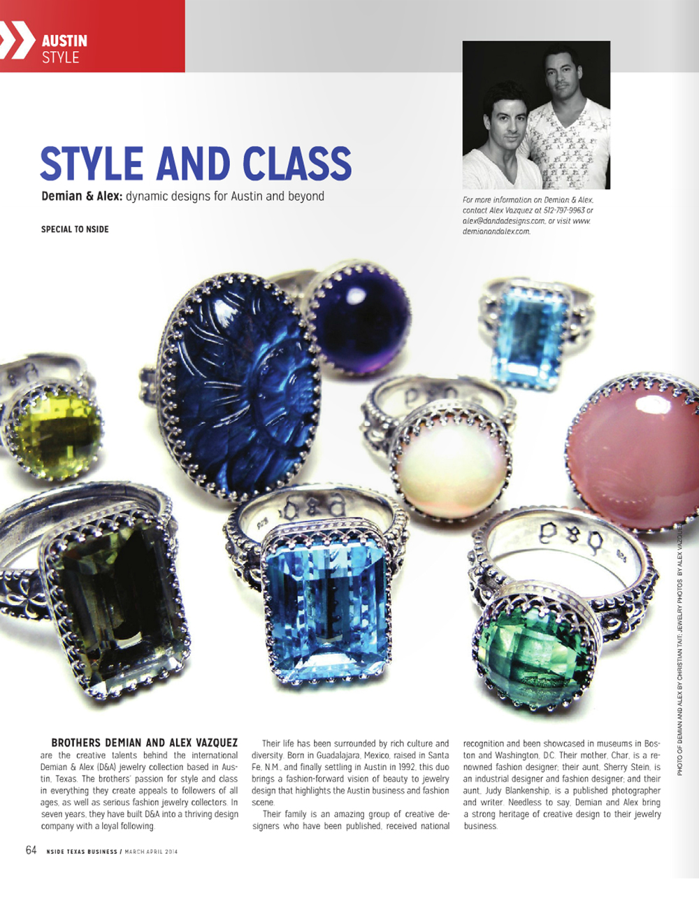 D&A / March/April 2014, Austin NSIDE Magazine.