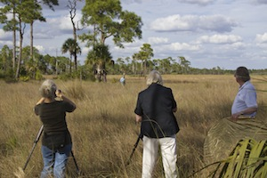 Connie and Sandy filming Deb Jansen at Big Cypress. Omer standing by. ©Connie Bransilver