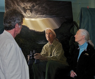 Jane Goodall - Portrait by Nicholas Petrucci, Photo ©Connie Bransilver