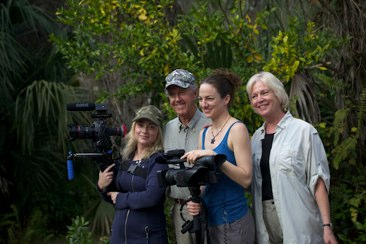 Production team with Franklin Adams ©Connie Bransilver