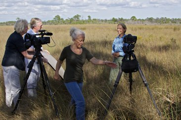 Production team with Deb Jansen in Big cypress. ©Nicholas Petrucci