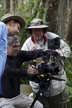 Ed Clay, John Scoular & Hand Sorrick filming in Big Cypress ©Connie Branilver