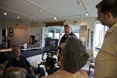 Nicholas, Hank, Ed & John at Nicholas' Studio ©Connie Bransilver