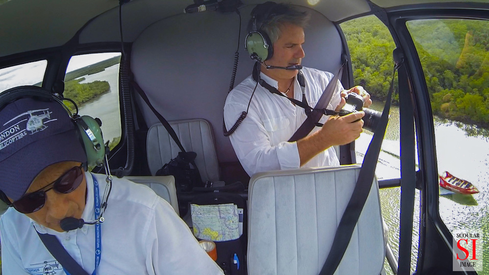 John Scouler in the HeliJet