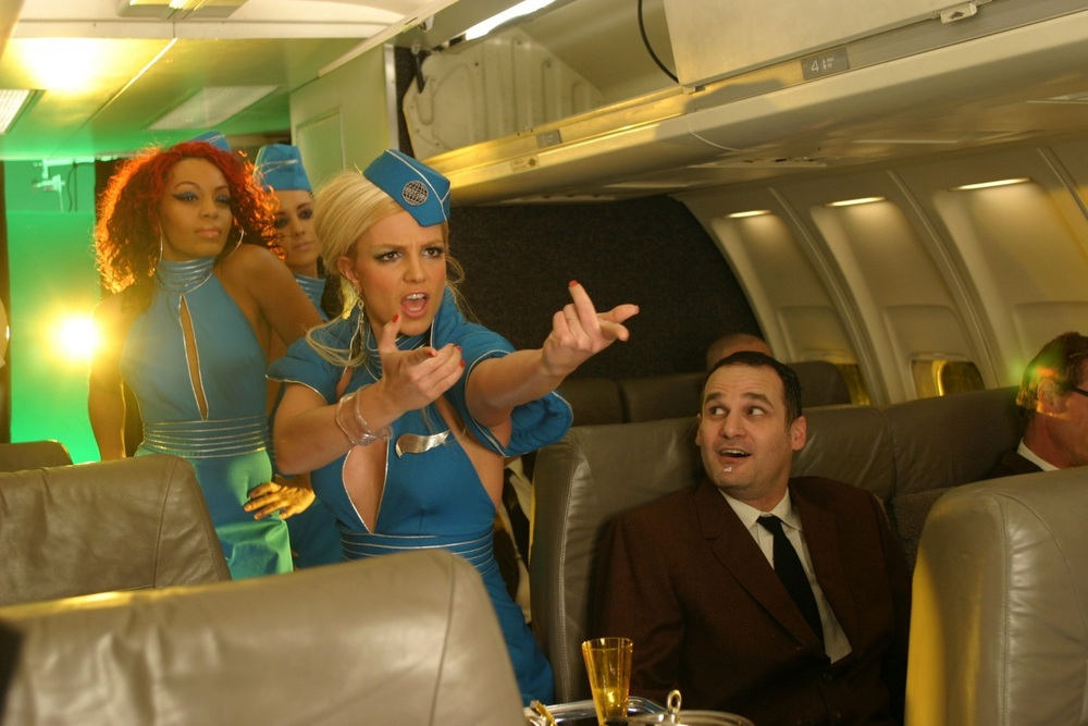 Disclaimer: Britney Spears may not actually be your flight attendant.