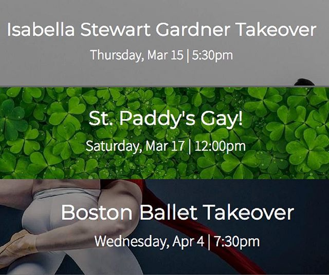 New Events added in Boston! Check the website for details!!