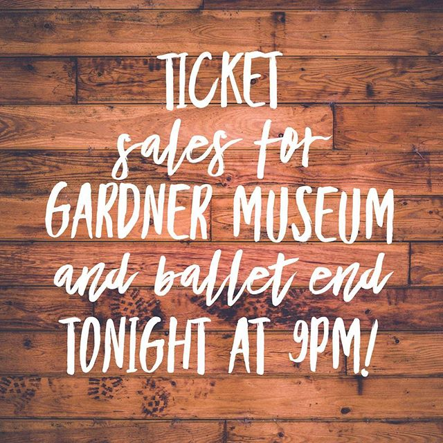 Only a few museum tickets left!