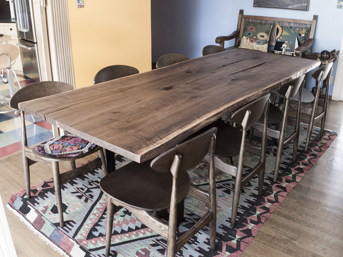 Walnut live edge dining table - Walnut Live Edge Dining Table 37