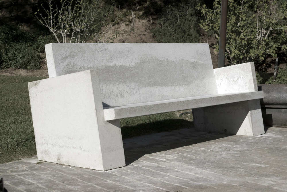 Great Tilted Concrete Sofa