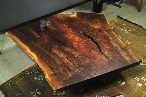 live edge crotch coffee table — taylor donsker design