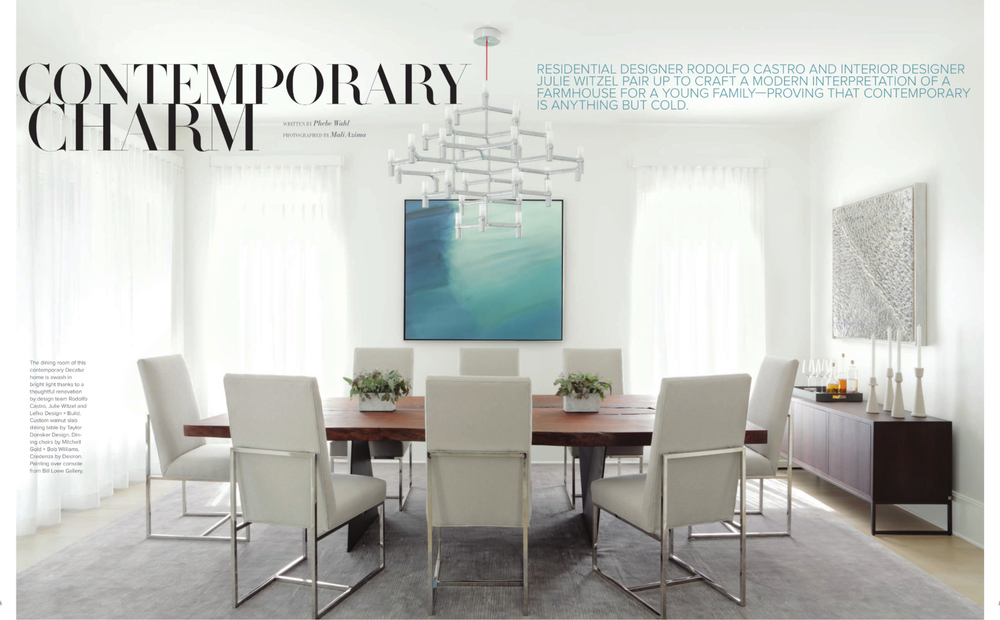 Atlanta Homes Design Magazine Feature — Taylor Donsker Design
