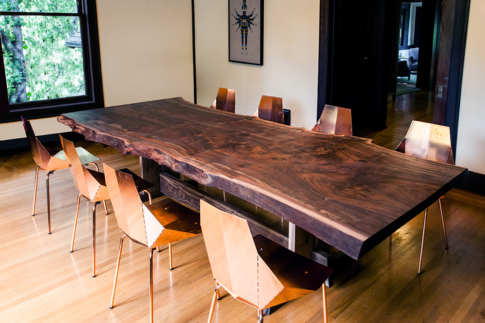 Claro Walnut Dining Table