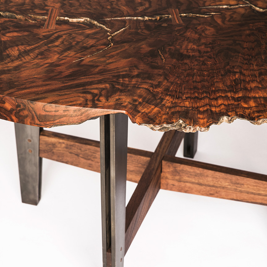 Firewood dining table