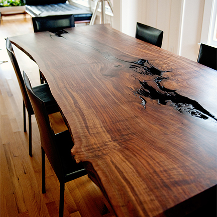 Shear dining table
