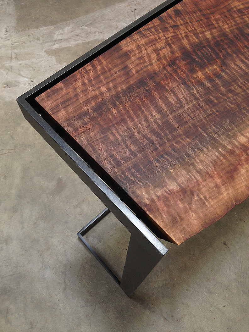 We Love Customizing Pieces From Our Suspended Line, Here Is A Custom  Suspended Console Table Featuring A Live Edge Claro Walnut Slab Top On A  Blackened ...