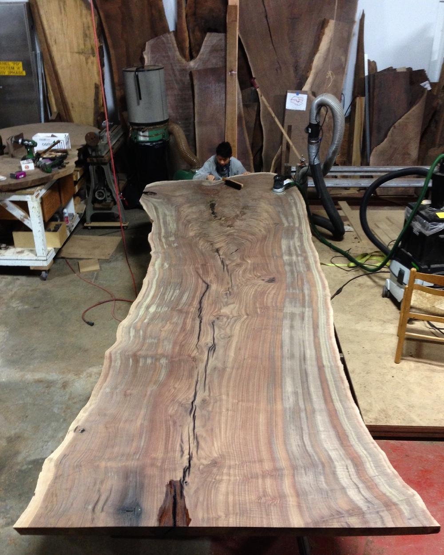 Massive Live Edge Claro Walnut Conference Table Taylor Donsker Design - Wood slab conference table
