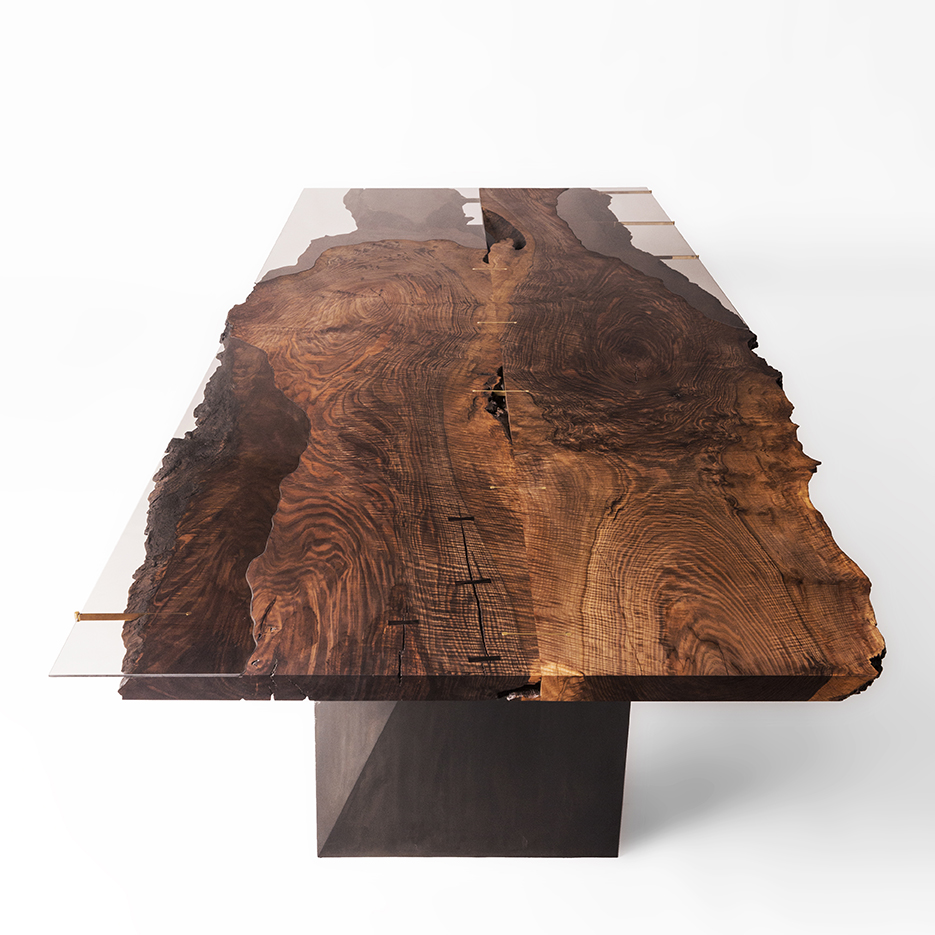 Live Edge Corset Dining Table