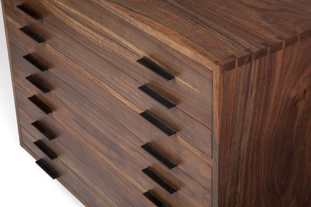 The Large Scaled Drawers Feature Highly Figured Claro Walnut Veneer And  Traditional Waxed Wood Drawer Runners For An Authentic, Solid Feel.