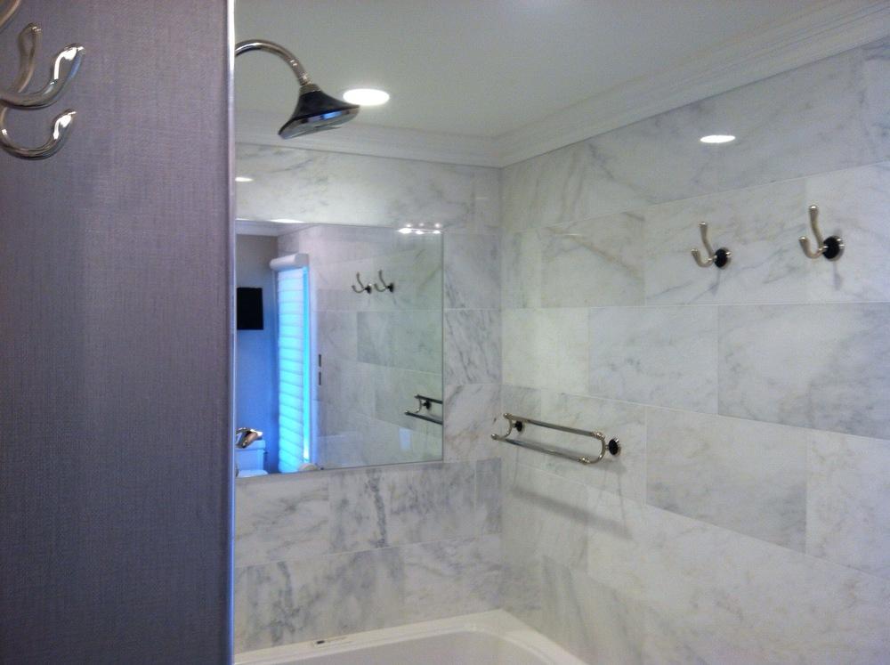 Custom shower.