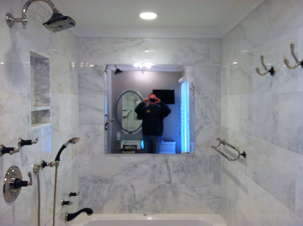 Custom bathroom.