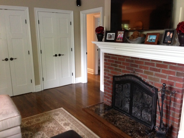 Built in fireplace.