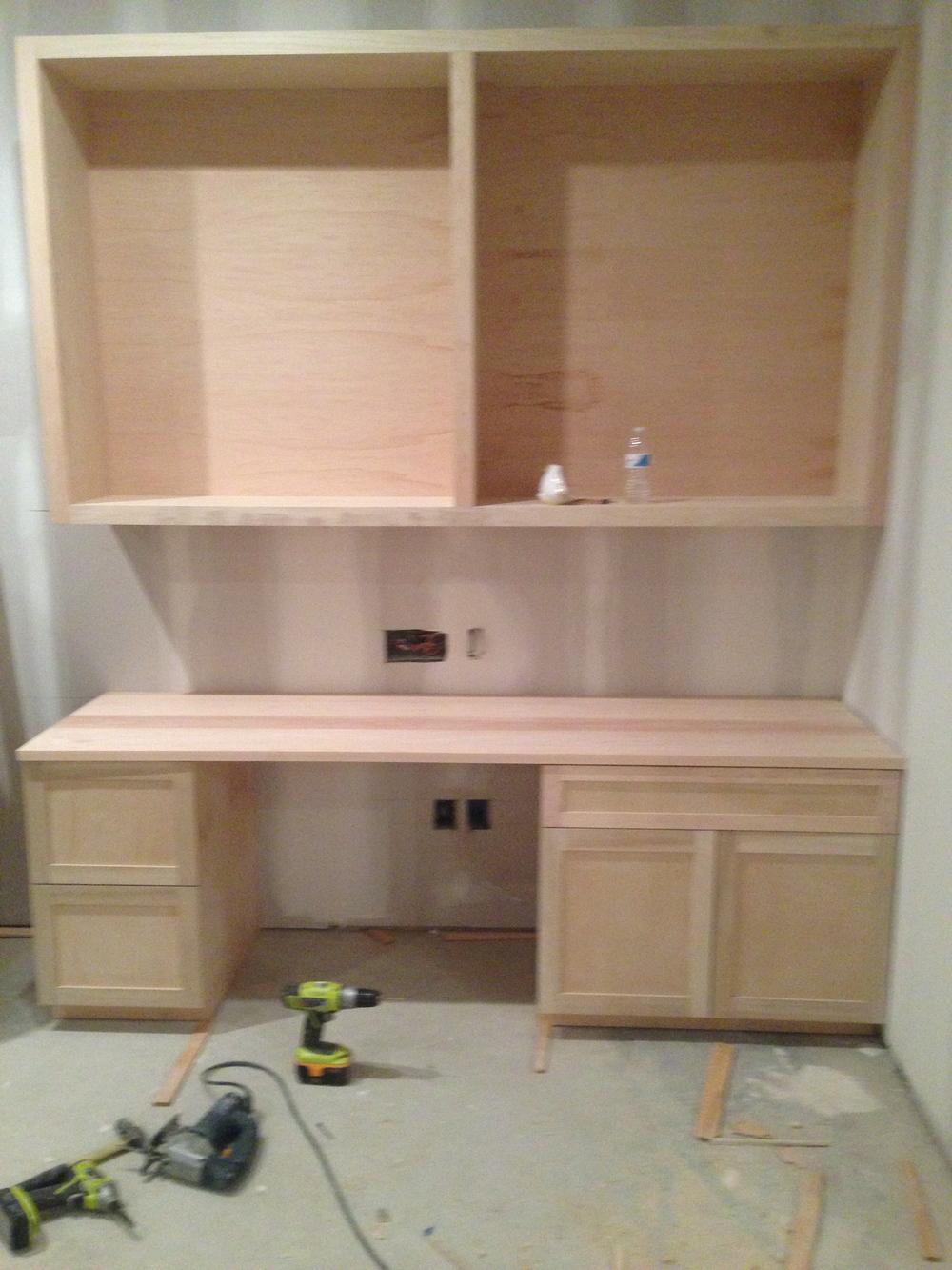 Custom built desk.