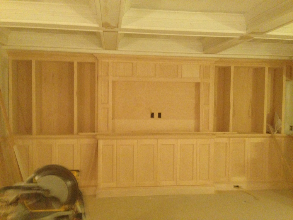 Custom build in 72 inch TV with surround sound.