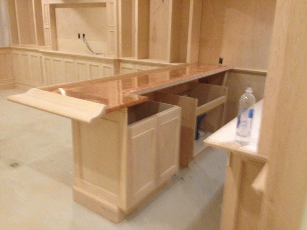 Bar being built.