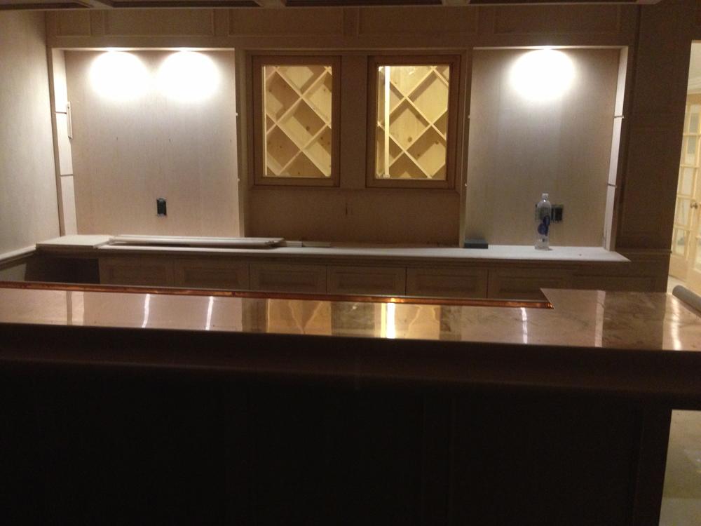Bar Overlooking Wine Room.