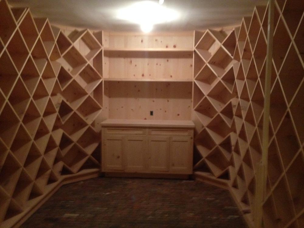 Custom built 2000 bottle wine cellar.
