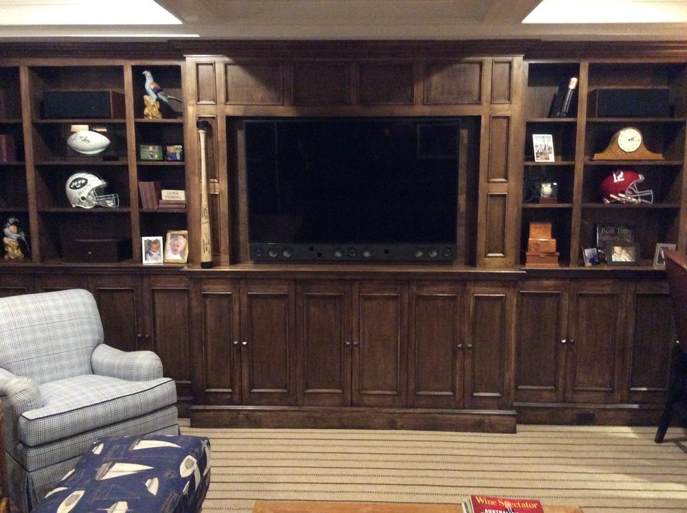 72 inch TV frame finished.